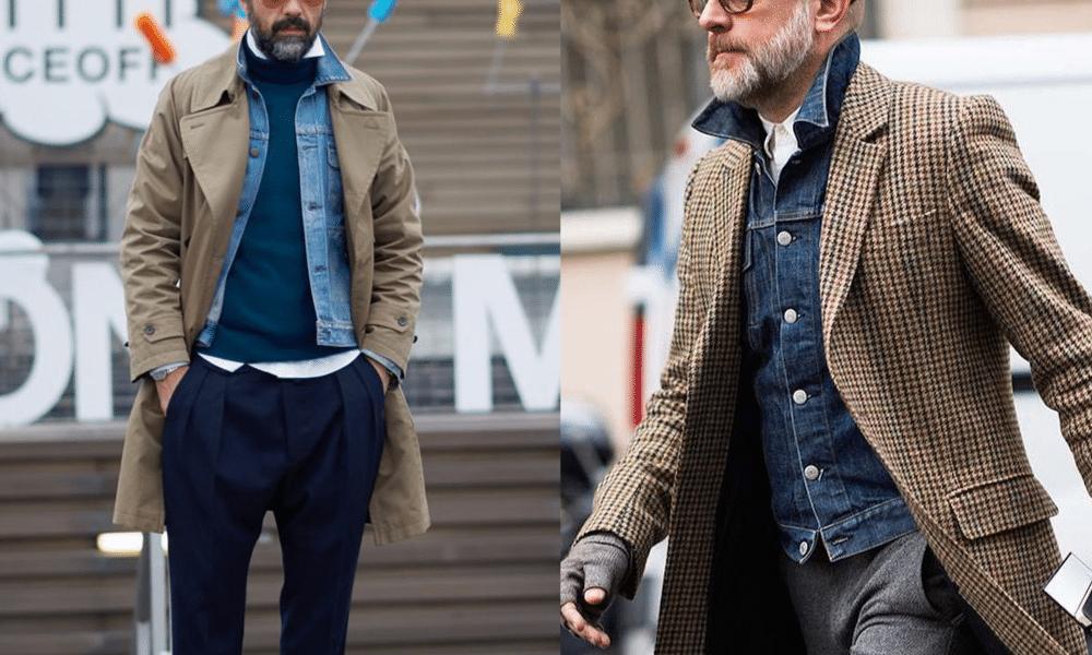 layer a men's denim jacket