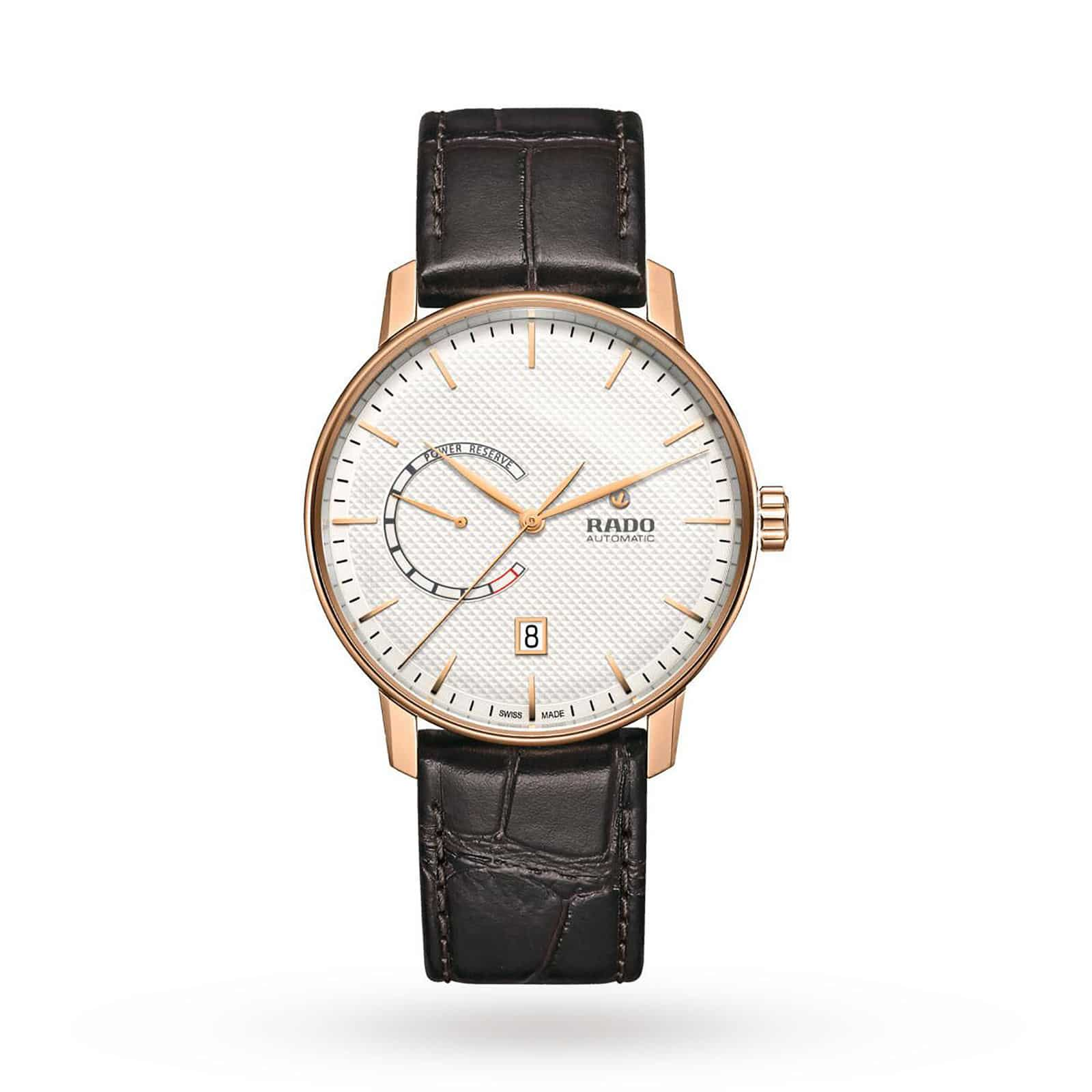 Rado mens watch with leather strap