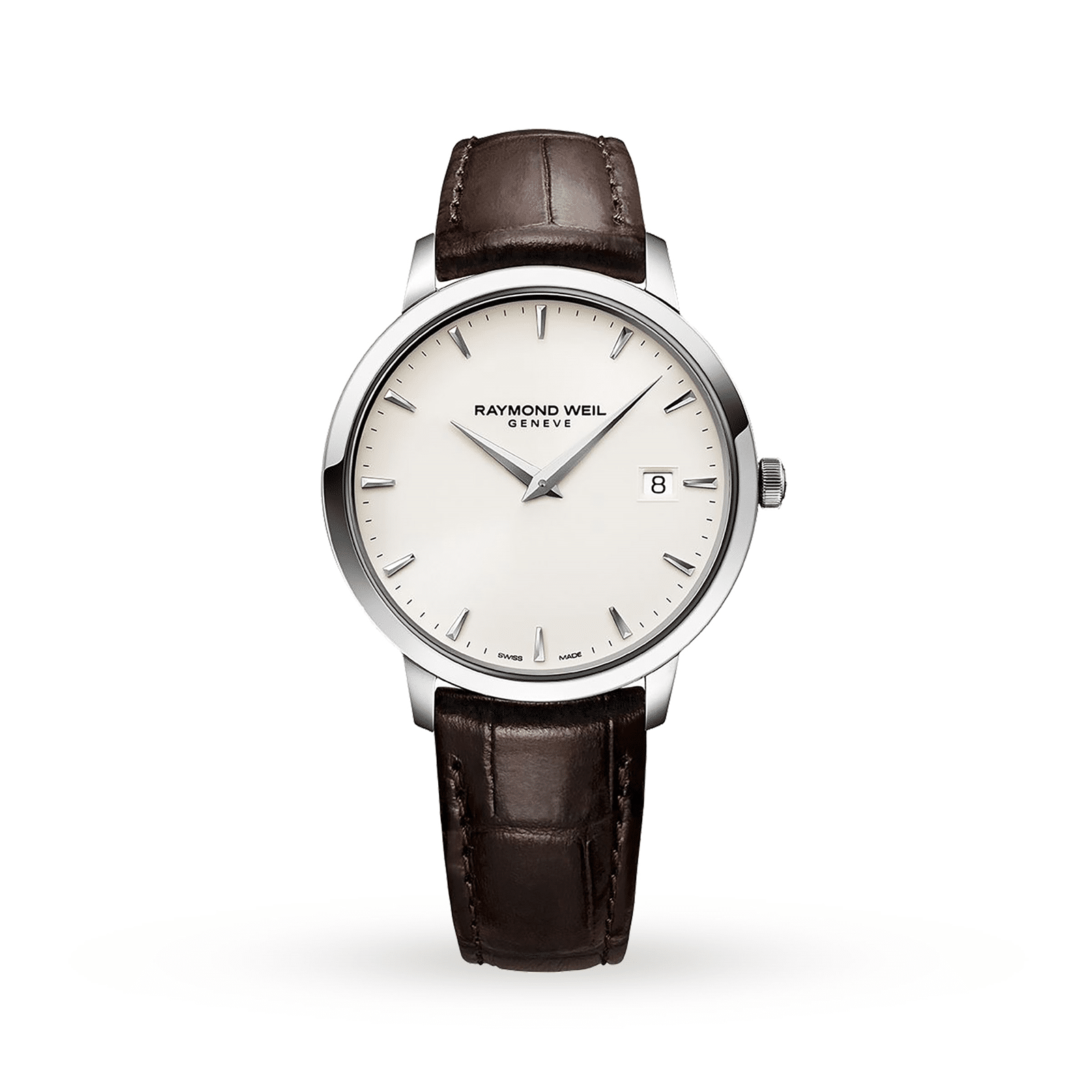 Raymond Weil watch with brown leather strap