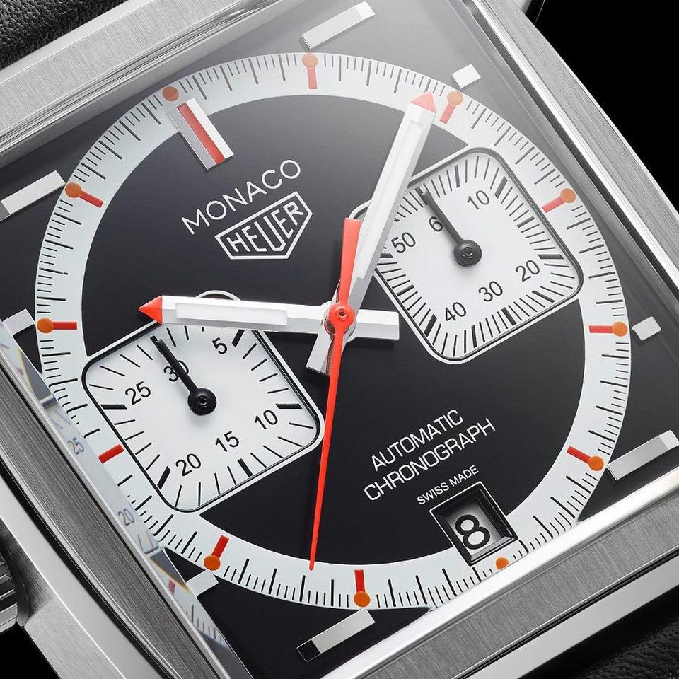 close up of the new tag heuer watch