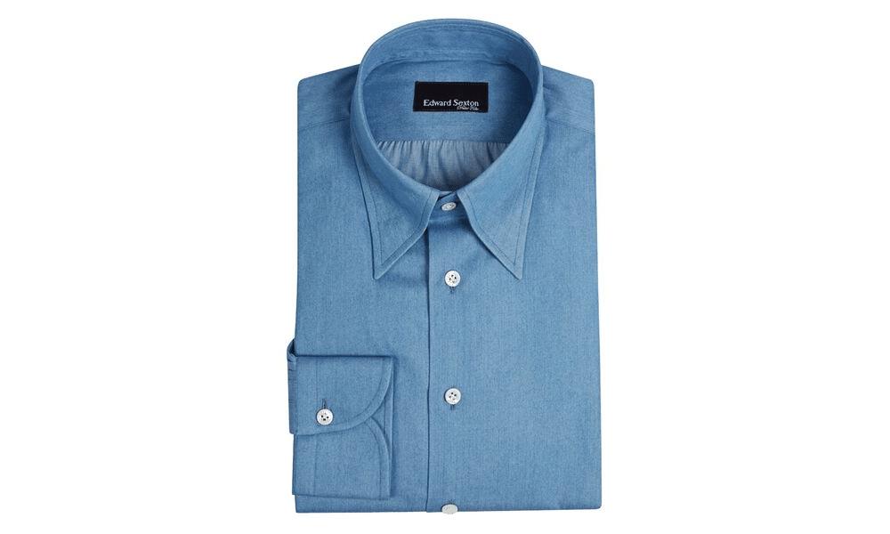 edward sexton blue shirt