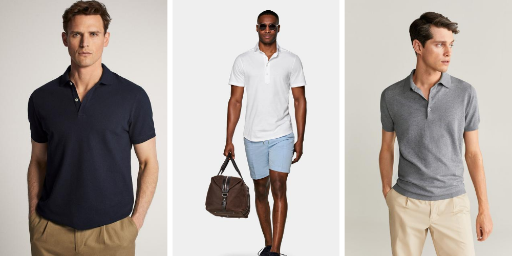 men wearing different colour polo shirts