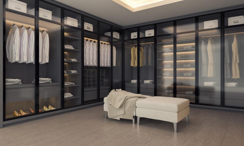 a minimalist mens closet