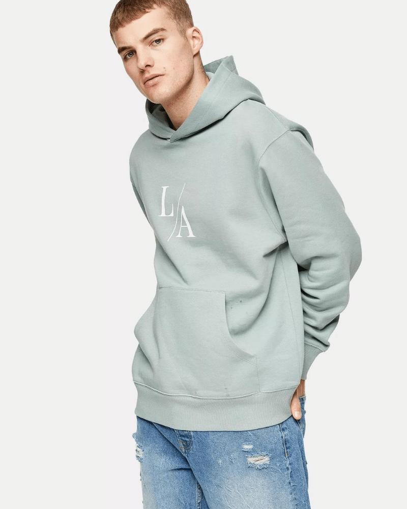 topman green la hoodie