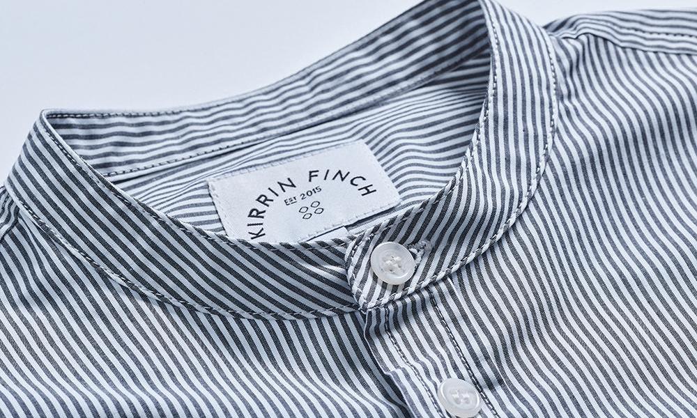 band collar shirt example