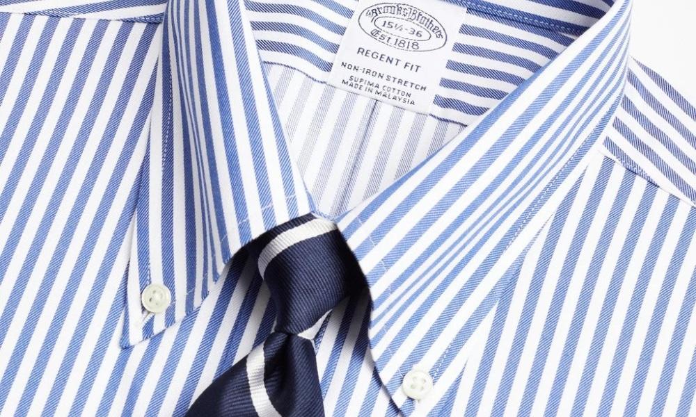 close up of button down shirt