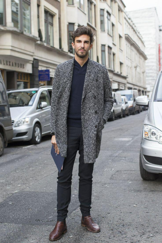street style image of chelsea boots