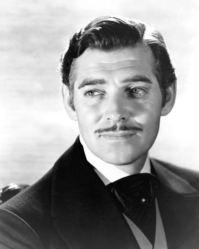 clark gable pencil moustache