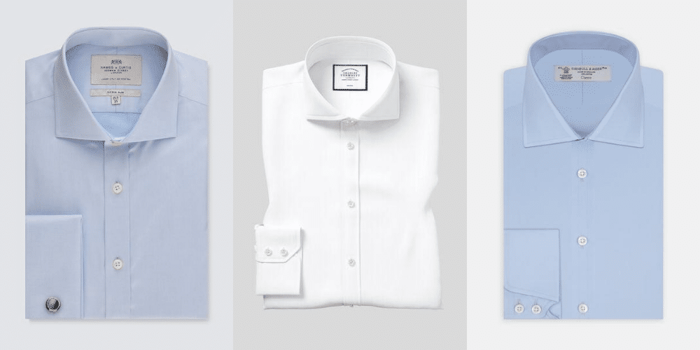 examples of cutaway collar shirts