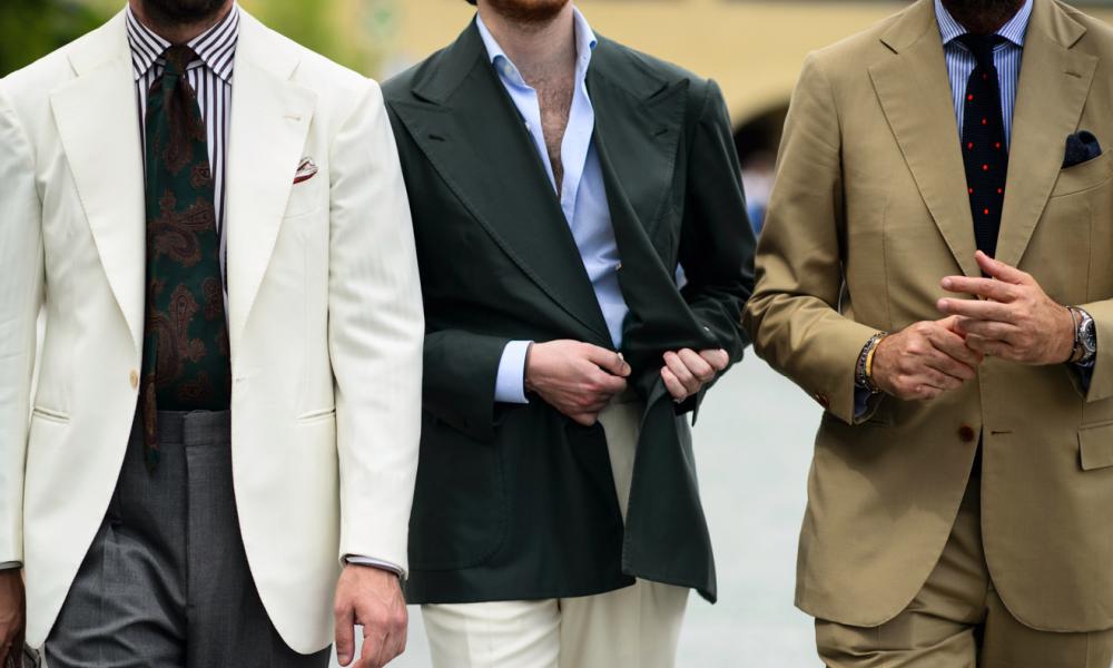 mens wearing formal clothing