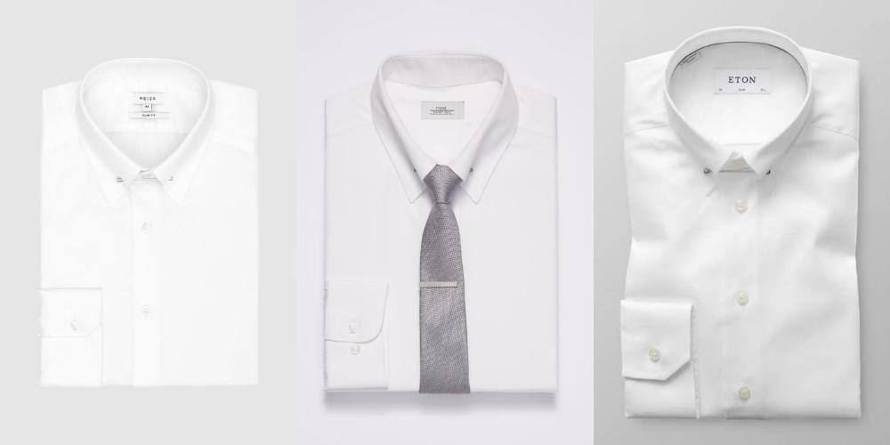 examples of pin collar dress shirts for men