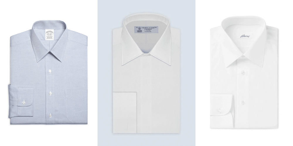 examples of point collar shirts