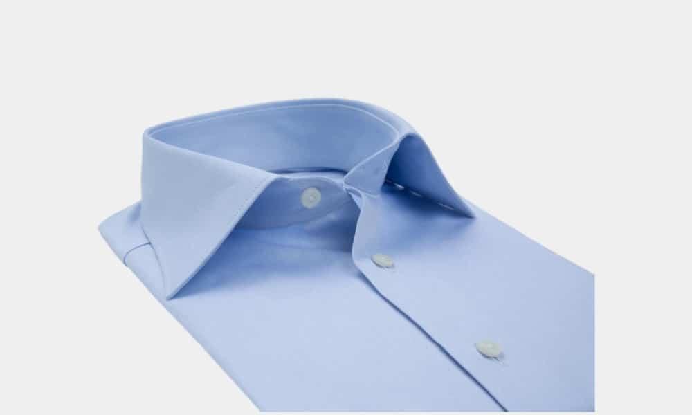 image of mens spread collar