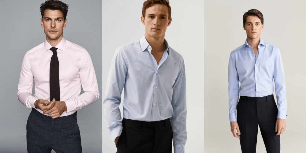 examples of spread collar shirts