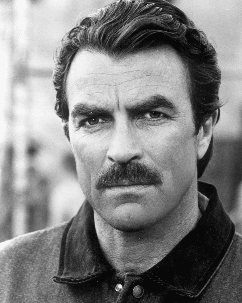 tom selleck chevron moustache