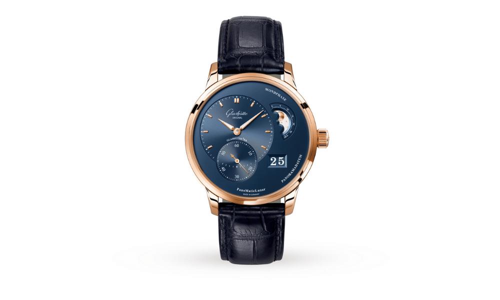 Glashütte Original pano matic lunar watch