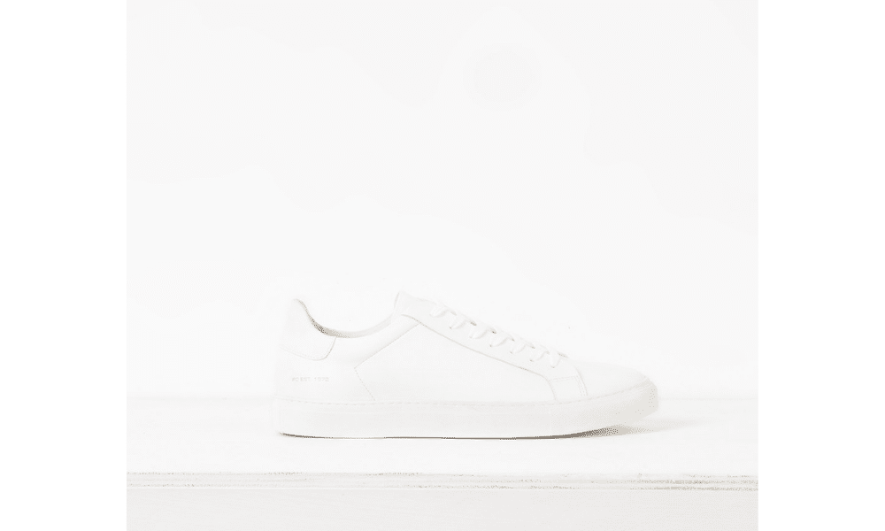 french connection plain white trainer