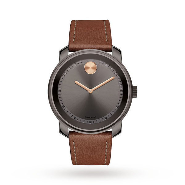 movado bold watch with brown strap