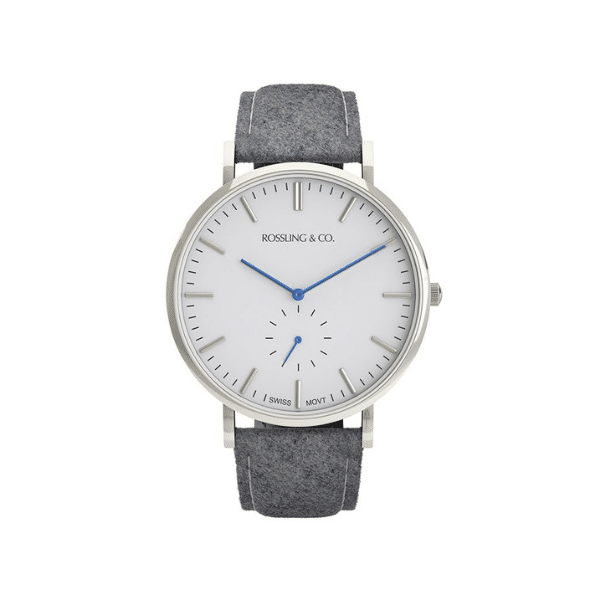 rossling and co tweed strap watch
