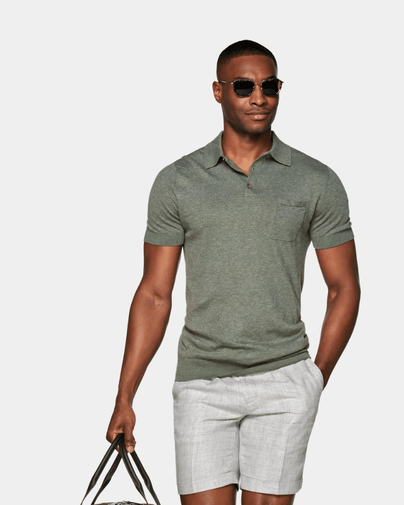 suit supply linen polo shirt and shorts