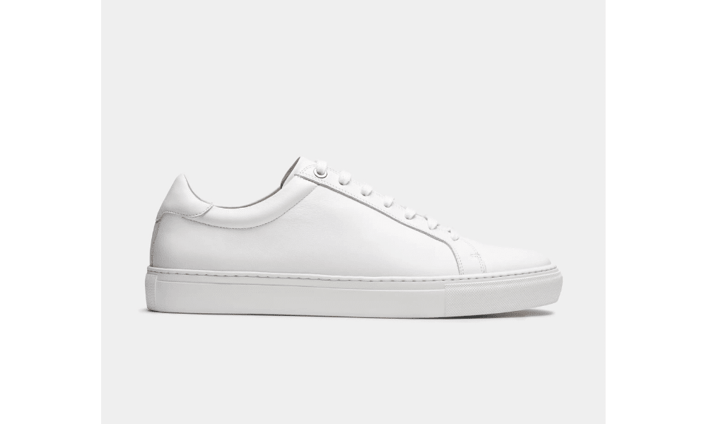 suit supply white leather trainer