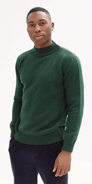 model wearing far afield jumper