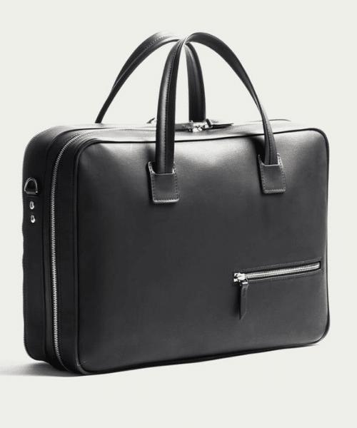 black mens briefcase by lundi