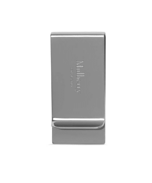 silver money clip by mulberry