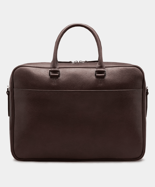 suit supply brown briefcase