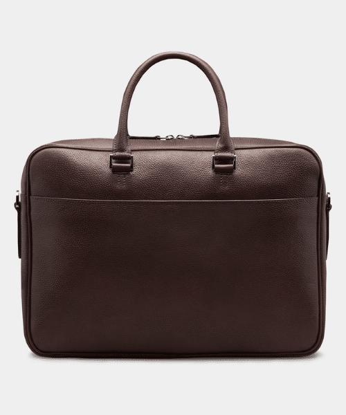 suit supply brown briefcase