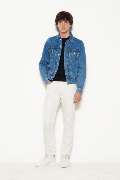 sandro blue denim jacket