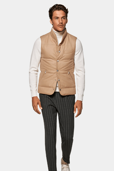 suit supply brown gilet