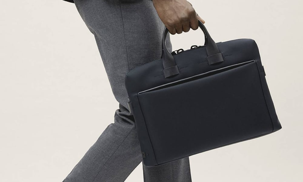 stylish man in suit with briefcase