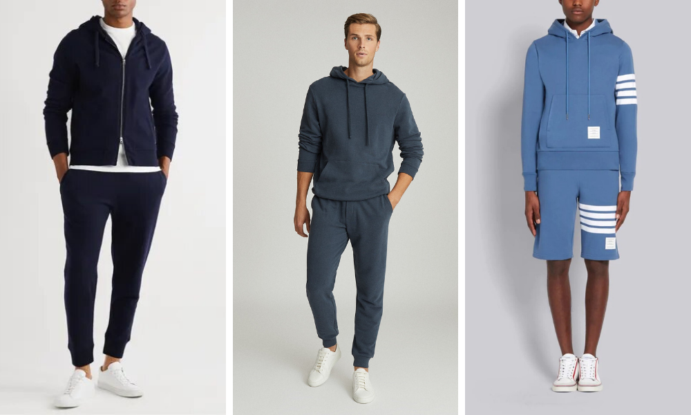 wear a hoodie with matching trousers