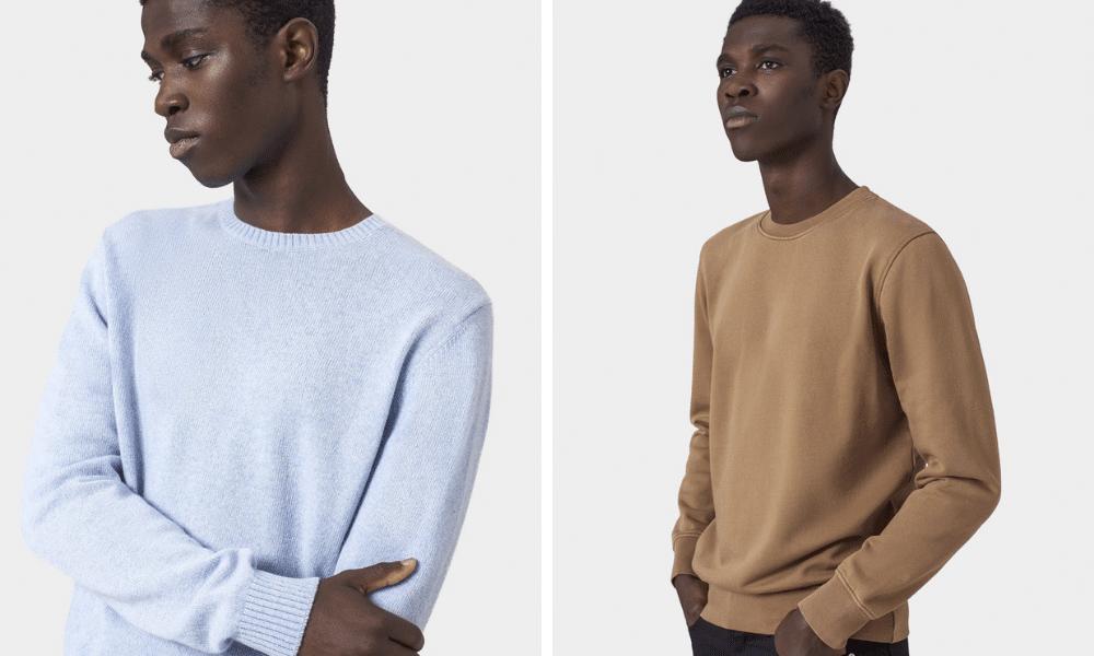 colourful standard menswear pieces