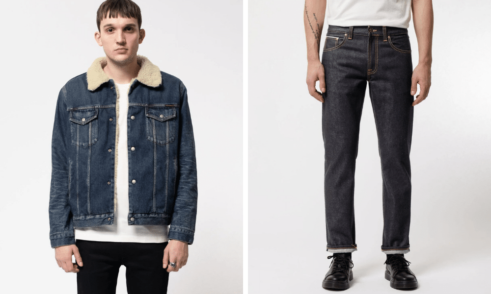 nudie jeans and jacket for men