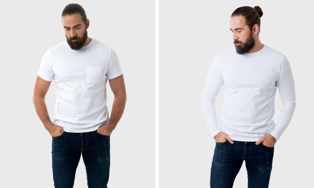 the fit of a white tshirt company item