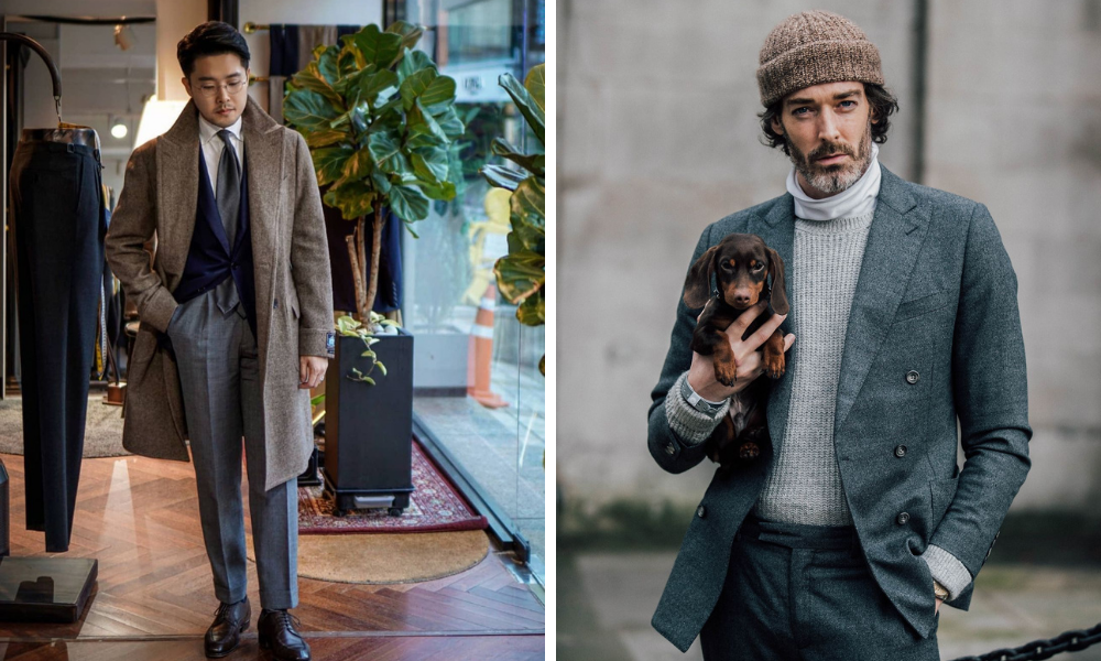 examples of men with excellent layering