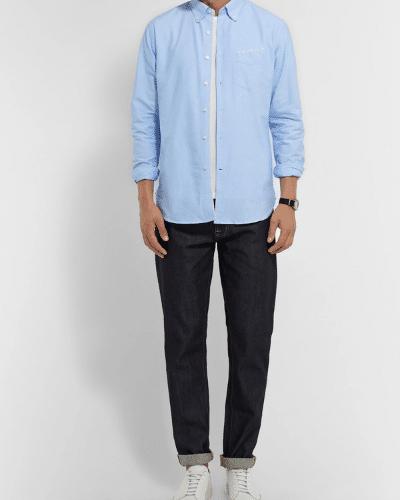 OFFICINE GÉNÉRALE Slim-Fit Cotton Oxford Shirt