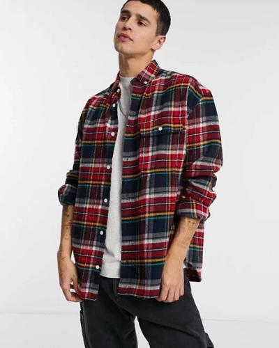 asos oversized flannel shirt