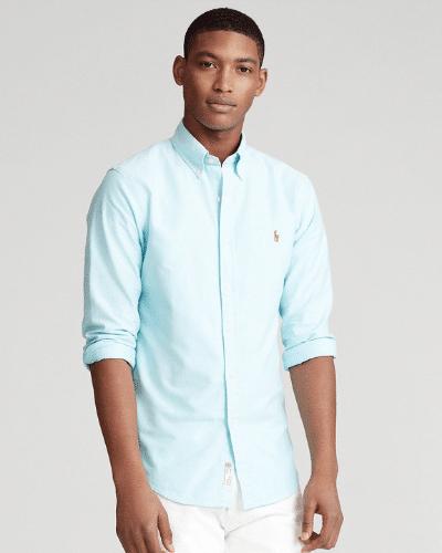 blue ralph lauren oxford shirt