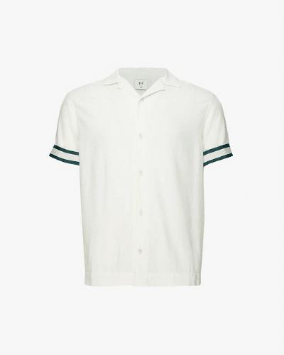 che striped cuban shirt