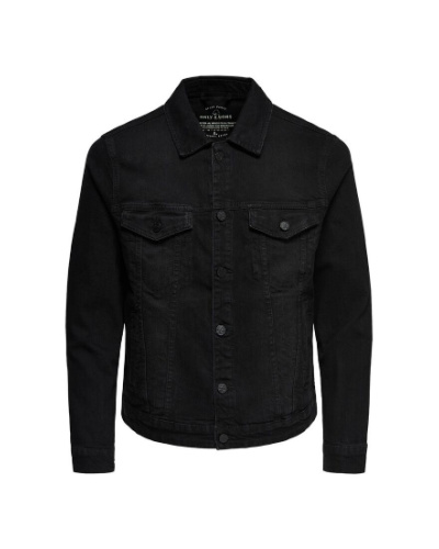 denim jacket black only and sons