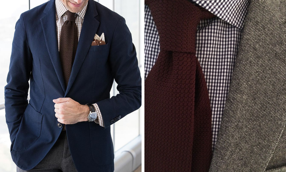 gingham shirt and tie