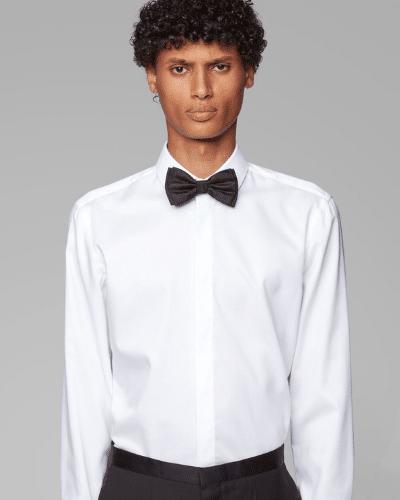 hugo boss tuxedo shirt