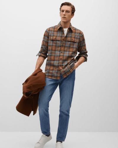 mango flannel shirt