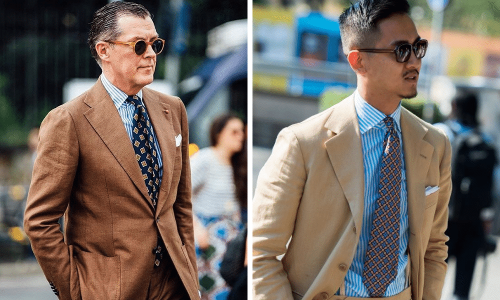 patterned tie examples