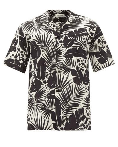 saint laurent cuban shirt
