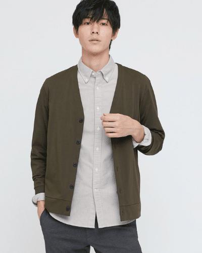 uniqlo grey oxford shirt